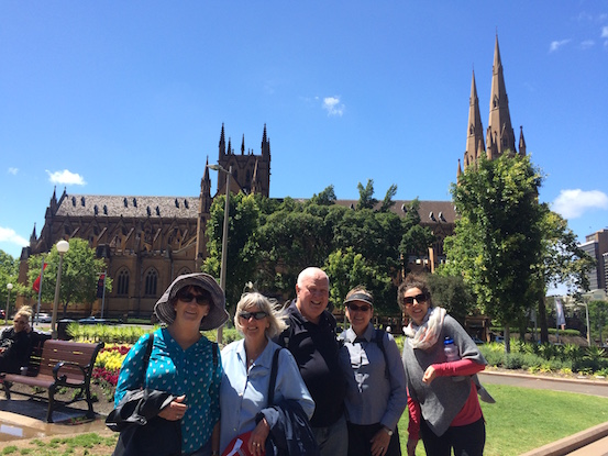 Walking group makes it to the Cathedral